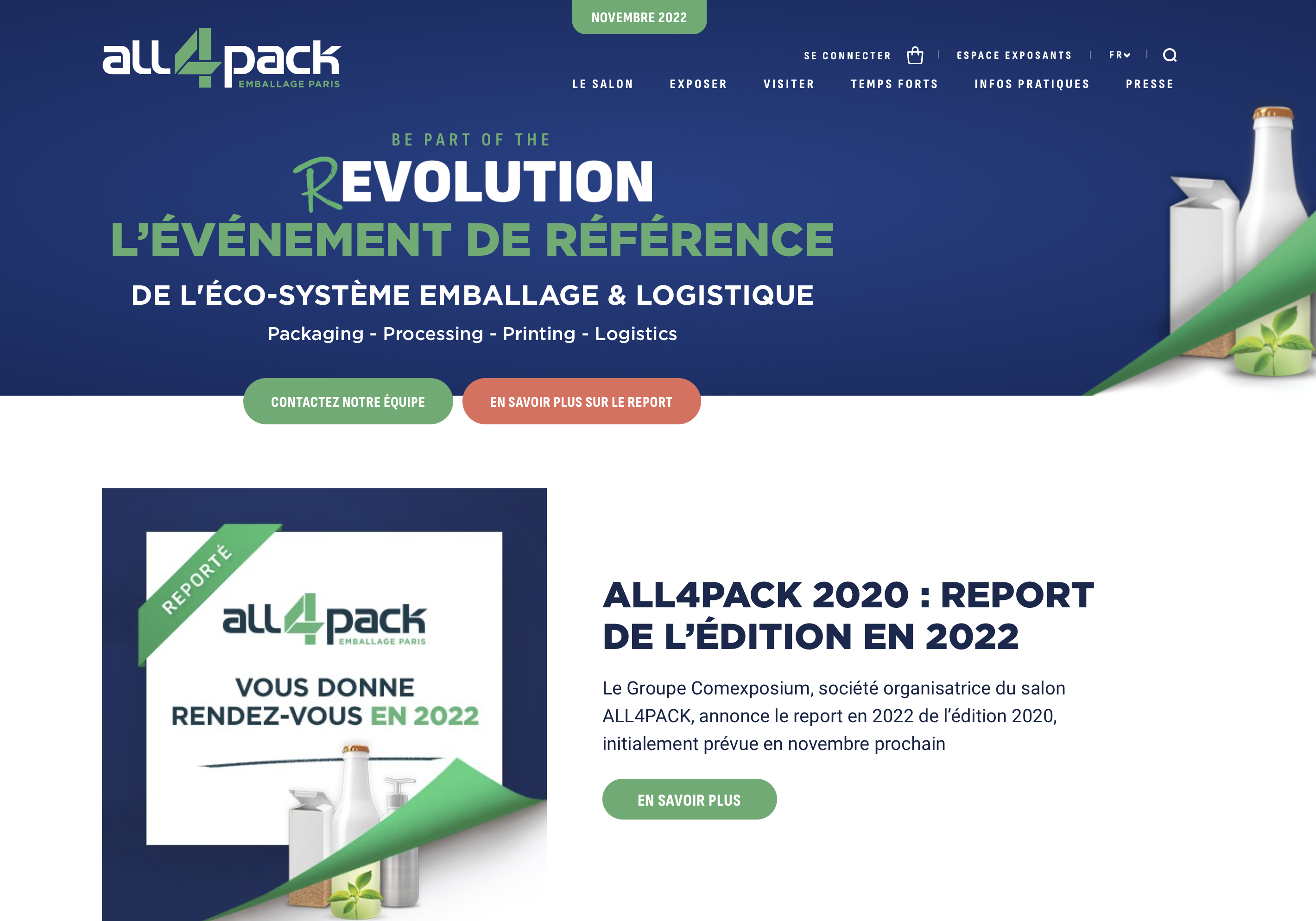 All 4Pack Villepinte reporté en 2022